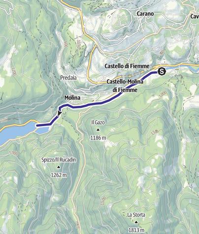 Mappa / Torrente Avisio A - Castello Molina di Fiemme
