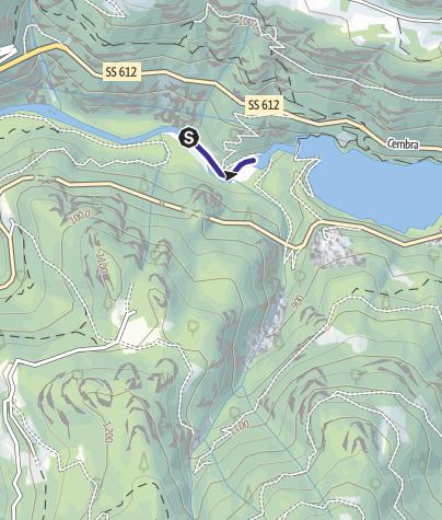 Mappa / Torrente Avisio B -Castello Molina di Fiemme
