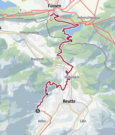 Map / Walk to Fuessen