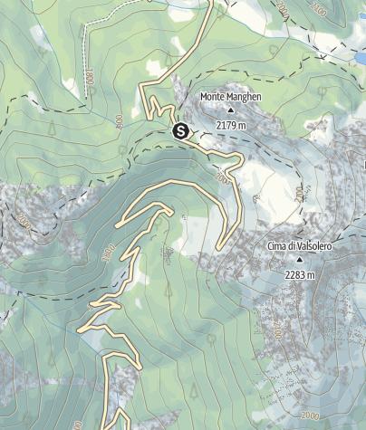 Mappa / Lago Passo Manghen F