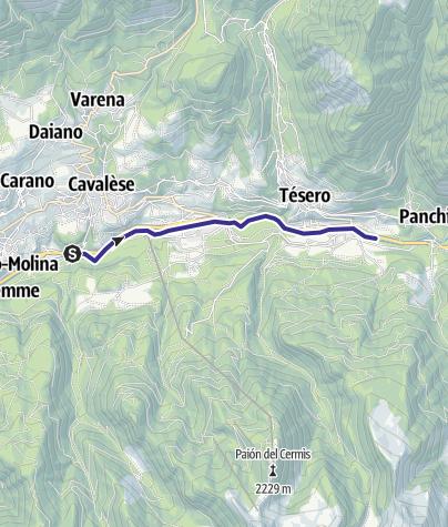 Karte / Torrente Avisio A - Tesero