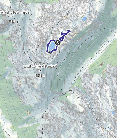 Map / Lago di Bombasel D