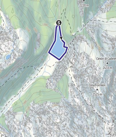 Map / Lago di Lagorai E