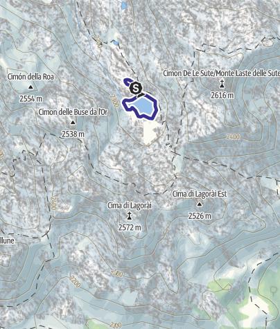Karte / Laghetti del Lagorai F