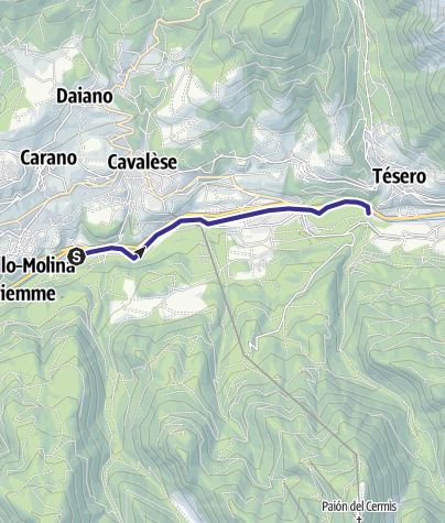 Cartina / Torrente Avisio A - Cavalese