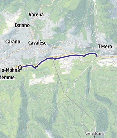 Mappa / Torrente Avisio A - Cavalese