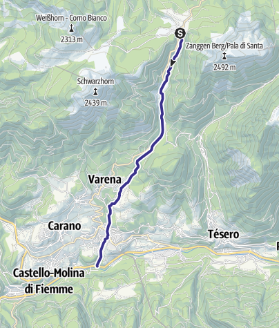 Karte / Rio Lavazè E