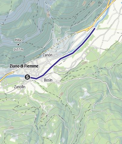 Karte / Torrente Avisio A - Ziano di Fiemme