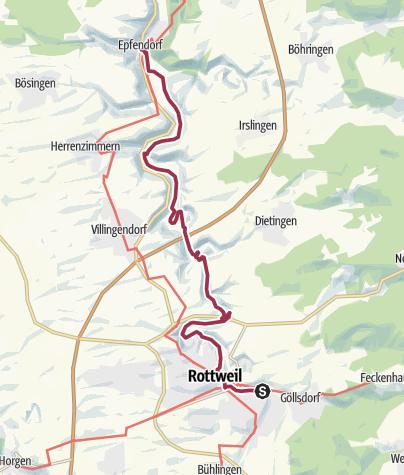 Karte / Auf dem Neckarweg von Rottweil nach Epfendorf