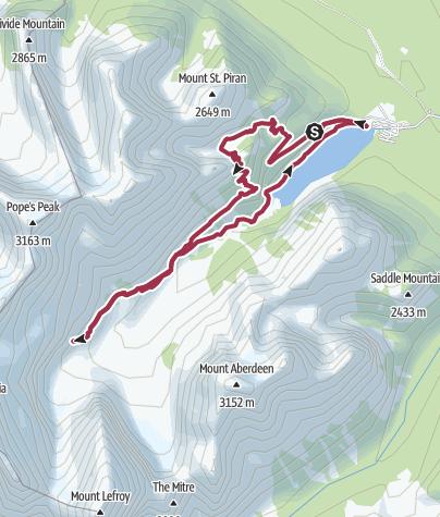 Map / Plain of Six Glaciers Loop