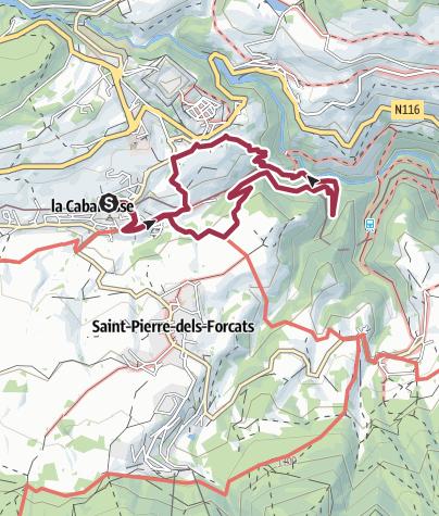 Karte / Du Train Jaune à la Citadelle de Mont-Louis / PR4