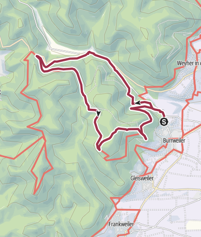Karte / Burri-Rundweg groß
