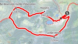 Map / Hauseck, Gr.+Kl. Bösenstein, Hengst, ü. Edelrautehütte, Rottenmanner Tauern