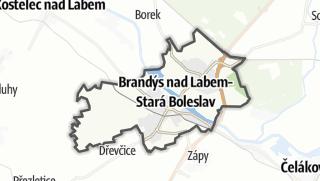 מפה / Brandýs nad Labem-Stará Boleslav
