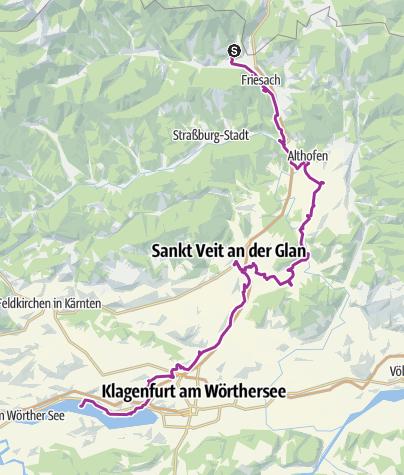 Karte / Burgen Sightseeing Radtour in Kärnten