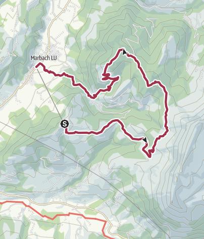 Karte / Marbachegg - Hürnli - Marbach