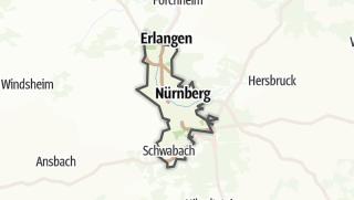 Karte / Städteregion Nürnberg