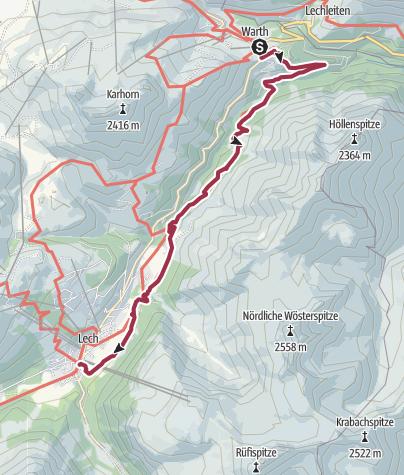 Map /  Alternative Walk 4: Warth- Lech