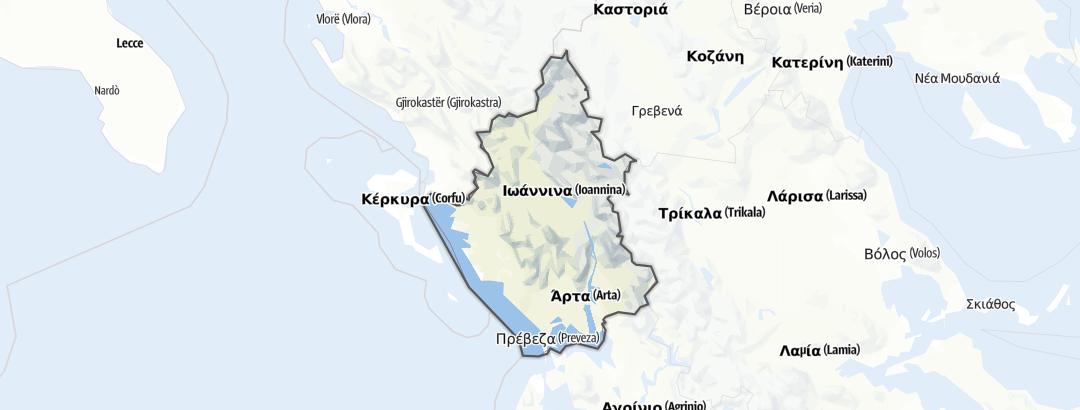 Térkép / Kerékpártúra,  Epirus területén