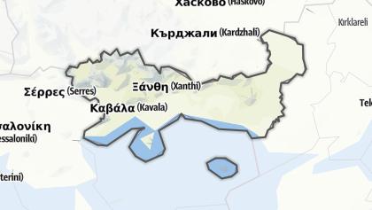 Mapa / East Macedonia and Thrace