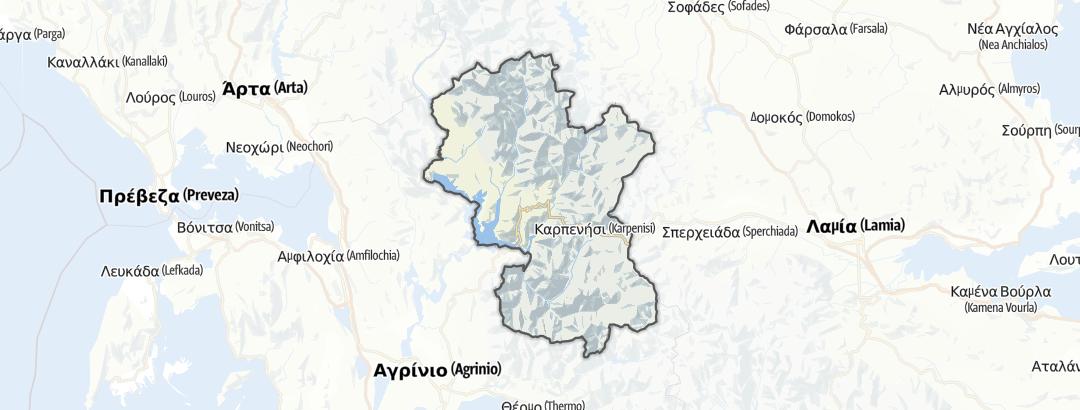 Kart / Fotturer i Evrytania