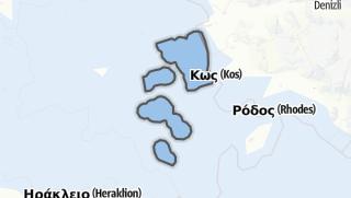 Mapa / Kalymnos