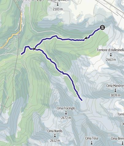 Cartina / Rio Vallesinella e Rio Brenta D