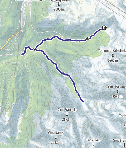 Map / Rio Vallesinella e Rio Brenta D