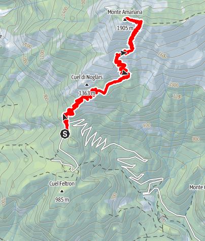 Karte / Monte Amariana