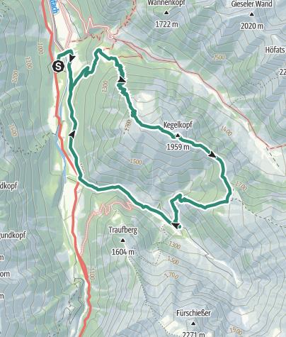 Map / Kegelkopf Überschreitung