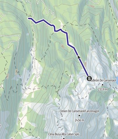 Mappa / Rio Canzenagol E