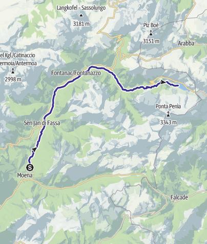 Karte / Torrente Avisio A - Val di Fassa