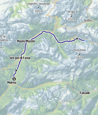 Mappa / Torrente Avisio A - Val di Fassa
