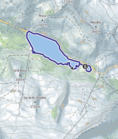 Karte / Lago di Fedaia B