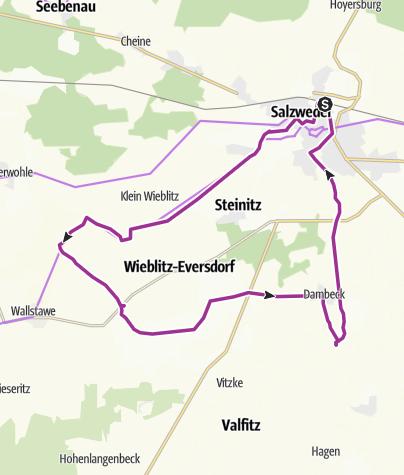 Karte / Natur Pur - Altmark (NASA Bahn + Rad Tour)