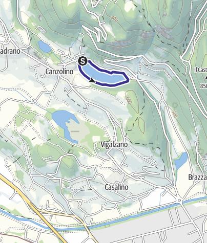 Mappa / Lago di Canzolino B