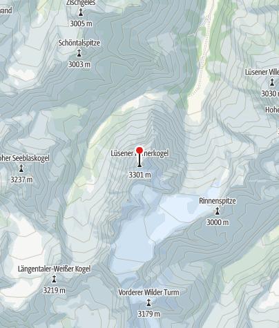 Karte / Lüsener Fernerkogel Nordgrat