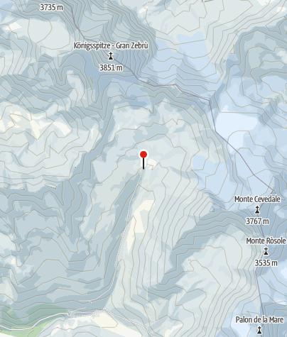 Karte / Monte Zebrù  Gran Zebrù