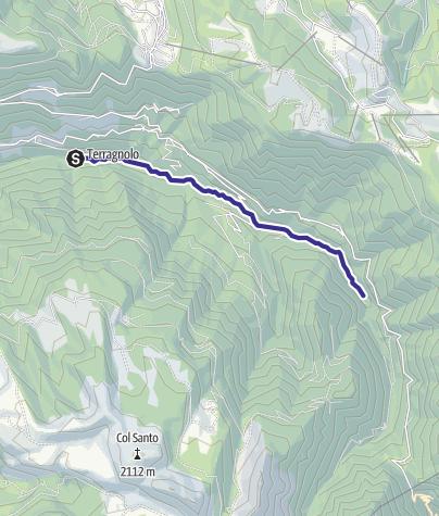 Map / Torrente Leno di Terragnolo E alta