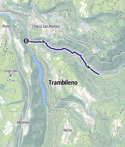 Cartina / Torrente Leno di Terragnolo E bassa