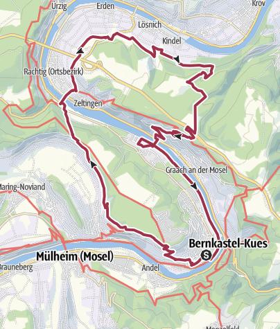 Karte / 24h-Wanderung 2019 Nachtschleife