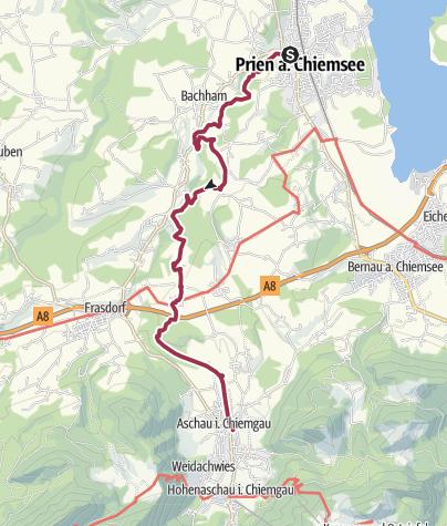 Chiemsee Karte Region.Grenzenlos Wanderweg Prien Aschau Wanderung