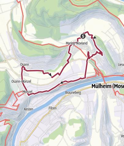 Karte / Ferienland-Wanderweg - Zwei-Täler-Blick - Maring-Noviand