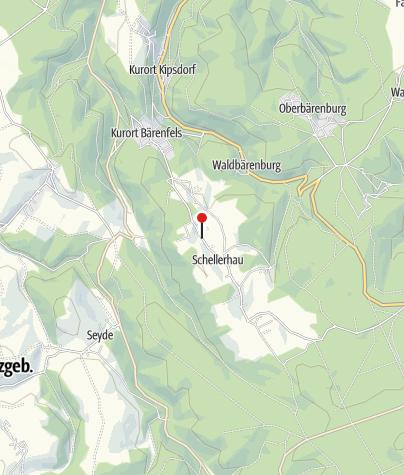 Karte / Parkplatz Skilift Schellerhau
