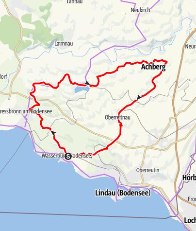 Karte / Radtour zum Schleinsee