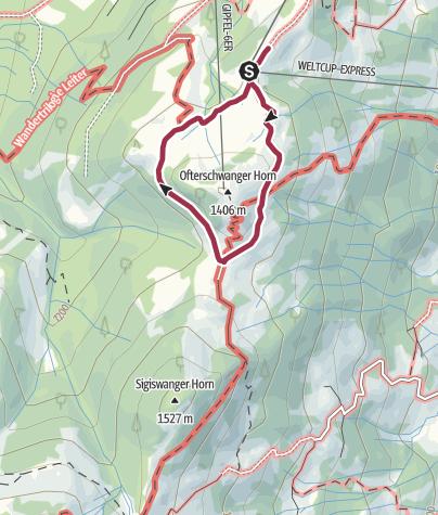 Karte / Rund ums Ofterschwanger Horn
