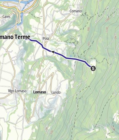 Karte / Affluente Torrente Dal O