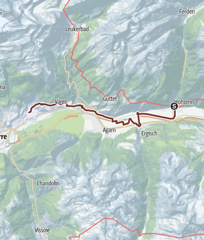 Karte / Rhein-Reuss-Rhôneweg:  Gampel - Salgesch