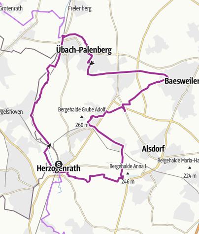 Karte / Halden-Route - Entlang der Halden ins  Wurmtal