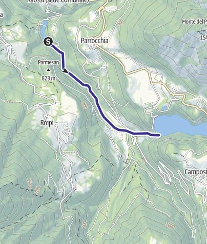 Map / Torrente Leno di Vallarsa F1